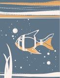 鱼传统化了 免版税库存图片