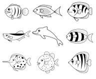 鱼动画片象 向量例证