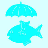 鱼和伞 库存图片