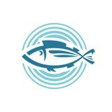 鱼商标模板 免版税库存照片