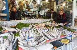 鱼土耳其农贸市场 免版税库存照片