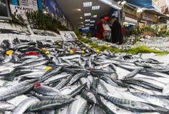 鱼土耳其农贸市场 免版税库存图片
