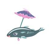 鱼在伞下 免版税库存图片