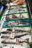 鱼在格兰维尔海岛公开市场上在温哥华 库存图片