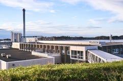 鱼处理公司的工厂厂房 免版税图库摄影