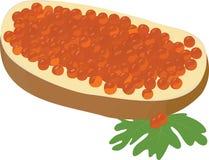 鱼子酱三明治 库存图片