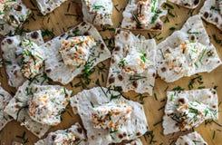 鱼子酱和奶油奶酪开胃菜 库存照片