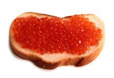 鱼子酱和面包两 图库摄影