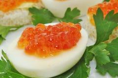 鱼子酱鸡蛋 免版税库存图片
