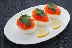 鱼子酱鸡蛋 免版税库存照片