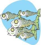 鱼学校 库存照片