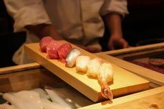 鱼寿司 库存照片