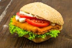 鱼小圆面包 免版税图库摄影