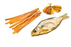鱼小条和干鱼 图库摄影