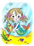 鱼小的美人鱼 免版税图库摄影