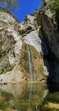 鱼峡谷秋天美丽的瀑布落后 免版税图库摄影