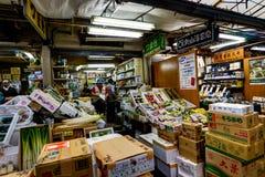 鱼市东京tsukiji 库存图片