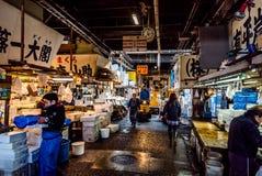 鱼市东京tsukiji 图库摄影