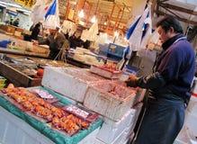 鱼市在东京日本 免版税库存图片