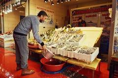 鱼市在伊斯坦布尔 库存图片