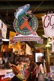 鱼市矛安排西雅图 免版税库存图片