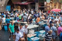 鱼市,卡塔尼亚 免版税库存照片