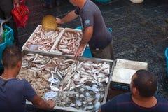鱼市,卡塔尼亚 库存照片