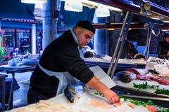 鱼市,威尼斯 库存图片