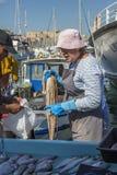 鱼市-马赛-法国的南部 免版税图库摄影