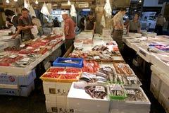 鱼市s海鲜东京tsukiji 免版税库存照片