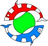 鱼徽标 图库摄影