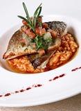 鱼意大利煨饭 免版税图库摄影