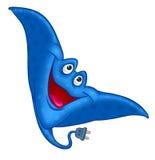鱼抽疯鱼快活的动画片 免版税图库摄影