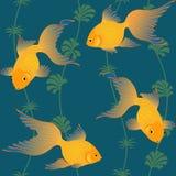 鱼无缝金的模式 库存图片