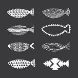 鱼时髦无缝的样式 库存图片