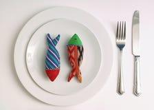 鱼晚饭 库存图片