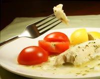 鱼晚饭 免版税图库摄影