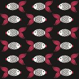 鱼模式 库存照片