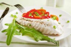 鱼正餐 免版税库存图片