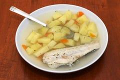 鱼汤 免版税库存图片