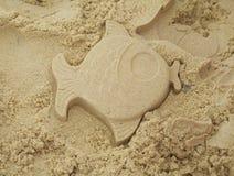 鱼沙子 库存图片