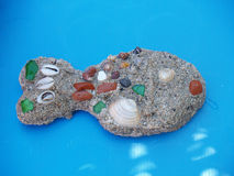 鱼沙子 图库摄影