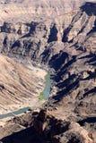 鱼河峡谷-在世界的第二大峡谷的引起轰动的看法-纳米比亚非洲 免版税库存照片