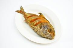 鱼油煎了 免版税库存图片