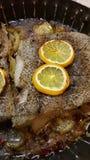 鱼油煎了 图库摄影