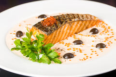 鱼油煎的橄榄 库存照片
