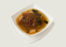 鱼法国葱汤 库存照片