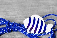 鱼海装饰 免版税库存照片