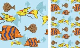 鱼游泳热带下面水 免版税库存图片
