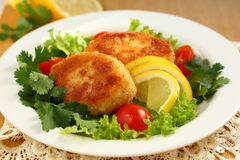 鱼炸肉排 库存图片